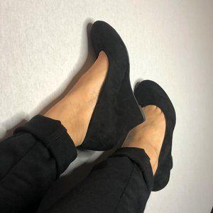 WORN ONCE - DEFLEX COMFORT black, padded wedge